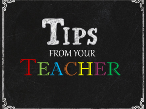 Four Tips Only Teachers Know